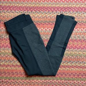 STRETCHY SKINNY DUO TONE LEGGING PANTS